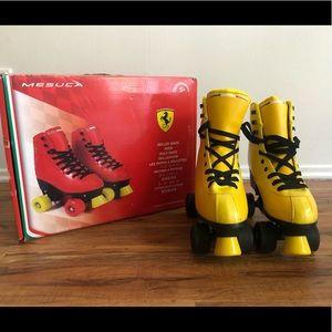 Ferrari Classic Roller Skates, Yellow, Size 39